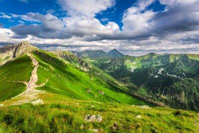 Vinilo Tatra montañas picos en día soleado