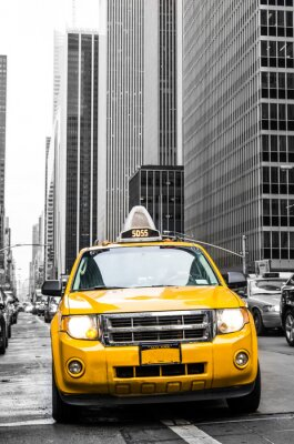 Vinilo taxi amarillo de Nueva York