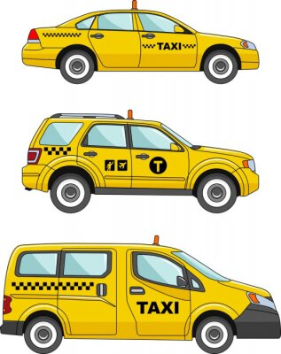 Vinilo Taxi car on a white background in a flat style
