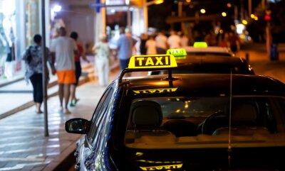 Vinilo Taxi sign en la noche