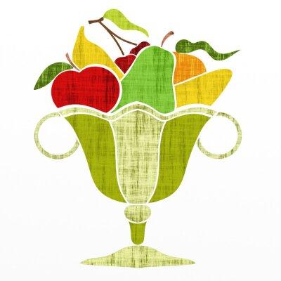 Vinilo Taza con la fruta