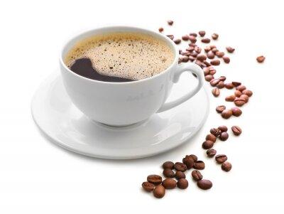 Vinilo Taza de café aislada en blanco