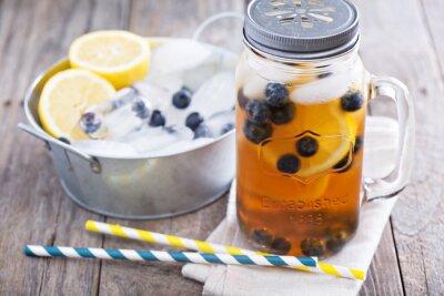 Vinilo Té de hielo con limón y arándanos