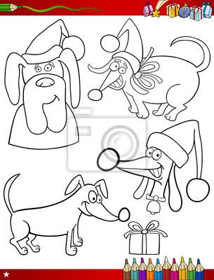 Temas de dibujos animados de navidad para colorear página vinilos ...