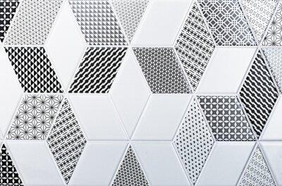 Vinilo Textura del azulejo clásico, patrón abstracto