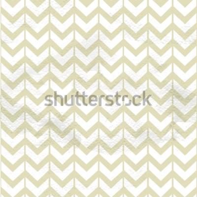 Vinilo Textura fina vintage transparente chevron beige sobre papel grange
