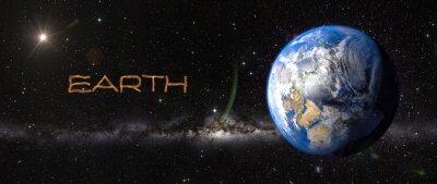 Vinilo Tierra en el espacio exterior.