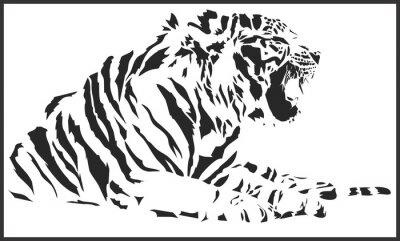 Vinilo tiger_sitting