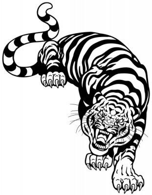 Vinilo tigre blanco negro