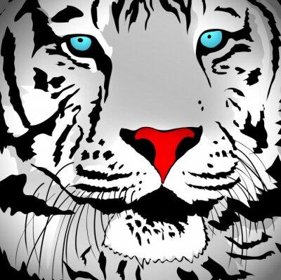 Vinilo Tigre Blanco Retrato
