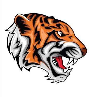 Vinilo tigre rugido