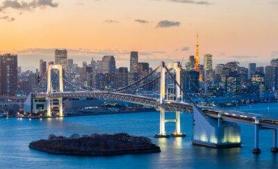 Vinilo Tokyo Tower Bridge Rainbow