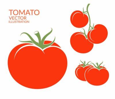 Vinilo Tomate. Hortalizas aisladas sobre fondo blanco