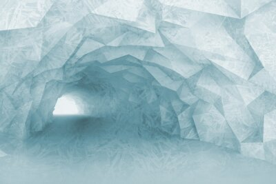Vinilo Torneado interior de túnel azul claro con alivio de cristal