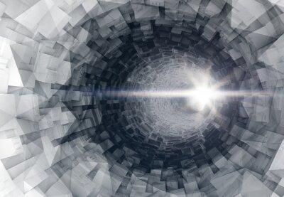 Vinilo Torneado interior del túnel 3d digital con final brillante