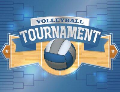 Vinilo Torneo de Voleibol de Cartelismo Ilustración