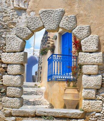 Vinilo Traditional architecture of Oia village on Santorini island, Gre