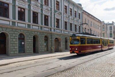Vinilo Tramwaj w centrum Łodzi