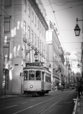 Vinilo Tranvía en Lisboa, retro