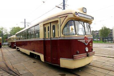 Vinilo tranvía vintage