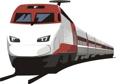 Vinilo tren de pasajeros