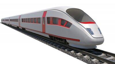 Vinilo Tren en el fondo blanco