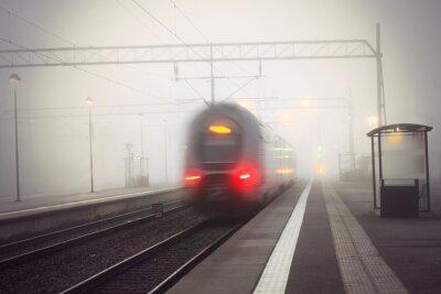 Vinilo Tren, salida, estación