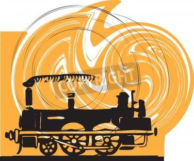 Vinilo Tren. Vector