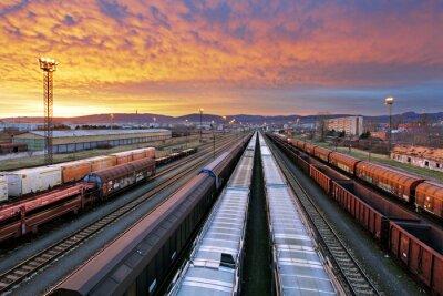Vinilo Trenes de carga - Industria ferroviaria de carga