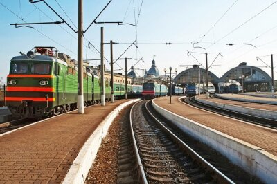 Vinilo Trenes en la estación de tren