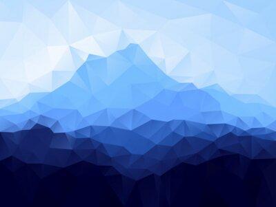 Vinilo Triángulo de fondo geométrico con la montaña azul