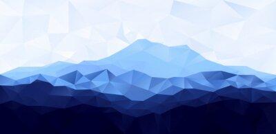 Vinilo Triángulo de poli polígono de bajo fondo geométrico con la montaña azul