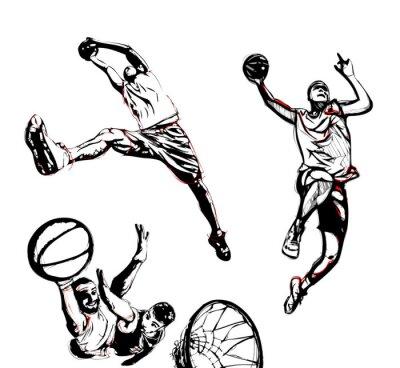 Vinilo trío de baloncesto