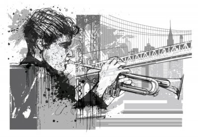 Vinilo Trompetista en Nueva York (Brooklyn)