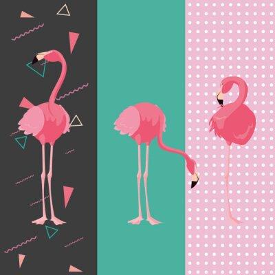 Vinilo tropical flamingo design