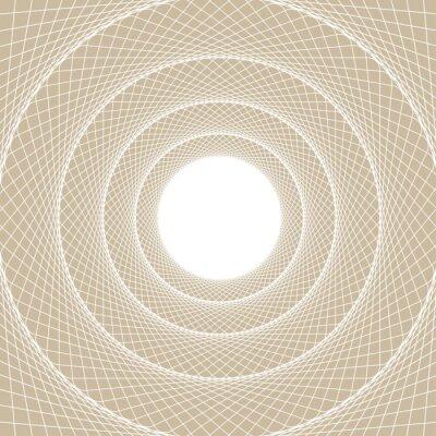 Vinilo Tubo de luz web, una vista centrada desde el interior de un túnel web, con un núcleo blanco abierto