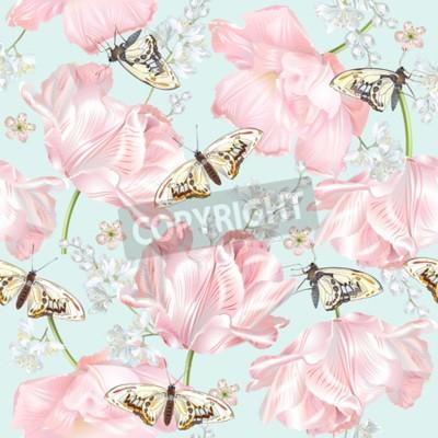 Vinilo Tulip butterfly pattern