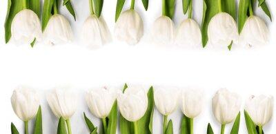 Vinilo Tulipanes blancos con sombra
