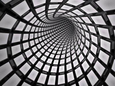 Vinilo Túnel abstracto, 3D