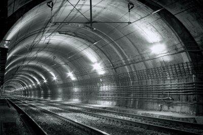 Vinilo Túnel vacío del metro