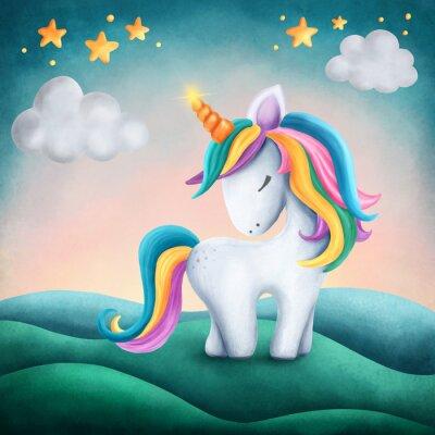 Vinilo Un poco lindo unicornio