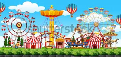 Vinilo Una ilustración de la escena del parque temático