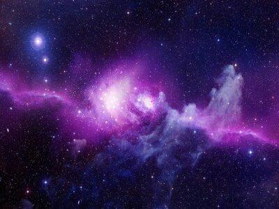 Vinilo Universo lleno de estrellas, nebulosa y galaxia