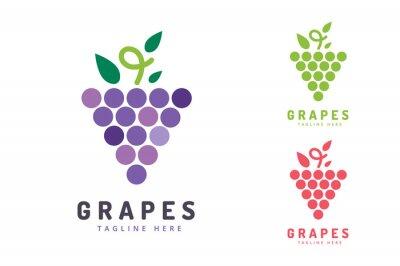 Vinilo Uvas aisladas icono de logotipo