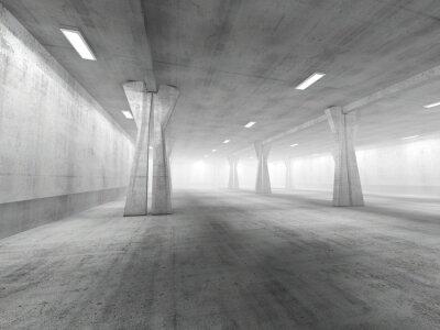 Vinilo Vacío, subterráneo, área de aparcamiento, 3D, representación