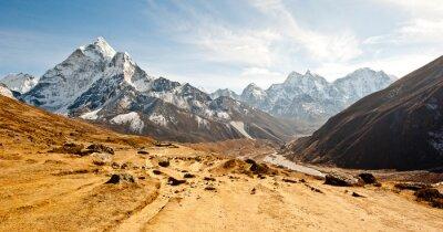 Vinilo Valle profundo en las montañas del Himalaya