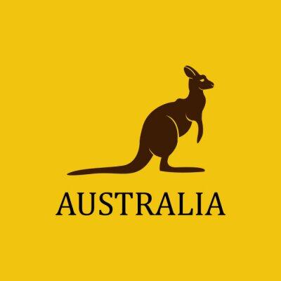 Vinilo Vector australia canguro