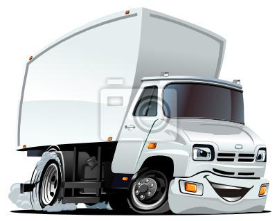 Vinilo: Vector de camiones de carga de dibujos animados