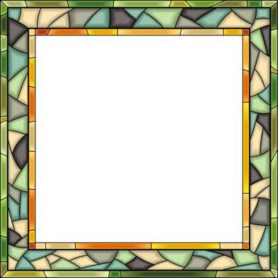 Vector De Cristal De Colores Marco De La Ventana Para La