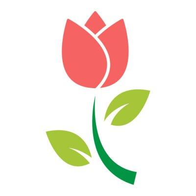 Vinilo vector de icono de flor de tulipán